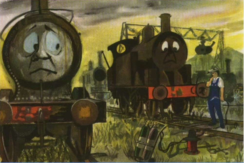Some very unhappy and scared trains at the scrapyard